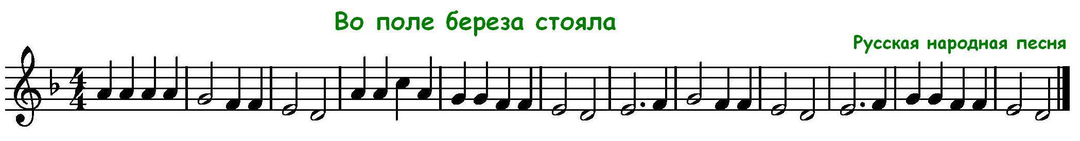 Музыка для начинающих - Ноты для блокфлейты Одинокий Пастух Ноты